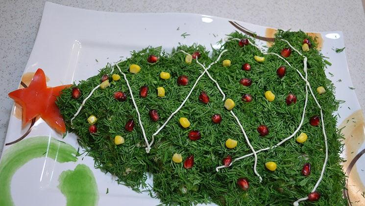 Украшения для салатов на новый год фото