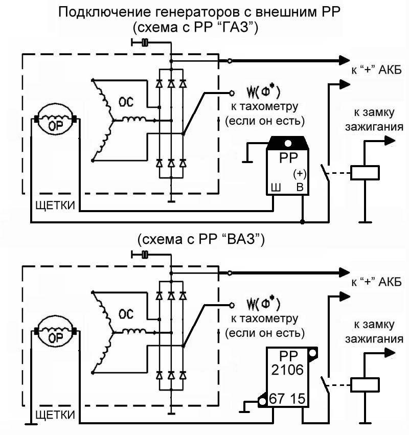 Схема генератора газ 3110