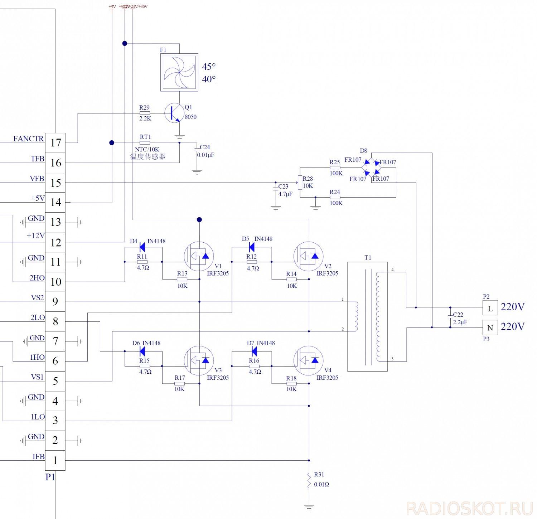 Инвертор 24 в 220 чистый синус своими руками схема 95