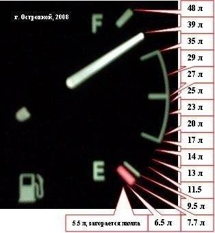 chevrolet lanos сколько бензина