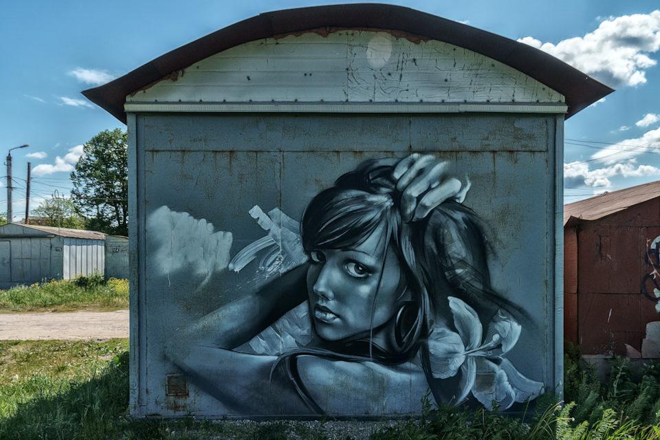 Граффити на гараже фото