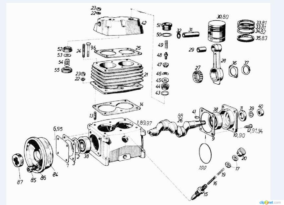 276Как сделать смазку шатуна в самодельном компрессоре от газ 66