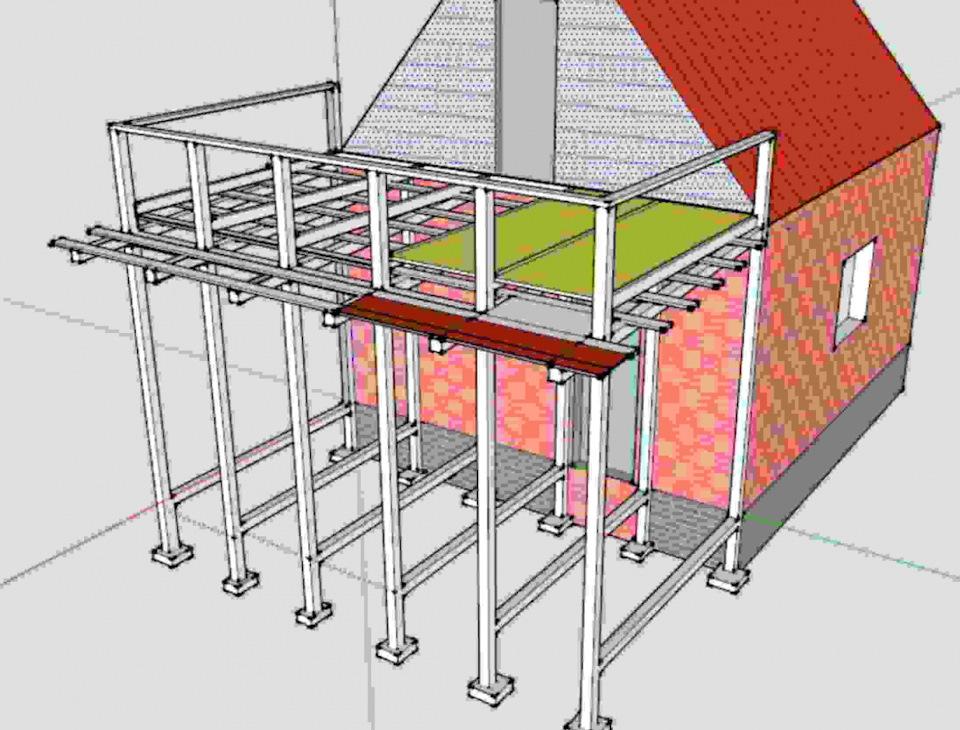Балкон на даче своими руками инструкция и
