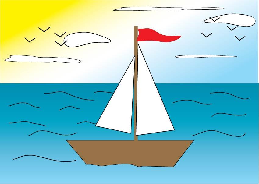 выезжая картинка кораблика с парусом для рефлексии теперь арбер