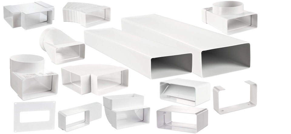 Короб вентиляционный пластиковый леруа