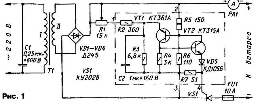 Своими руками тиристорный регулятор для зарядного устройства