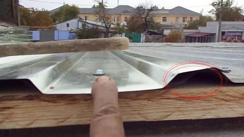 Покрыть крышу профнастилом гаража