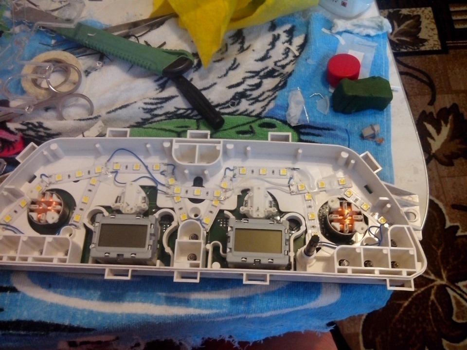 Светодиоды для панели приборов своими руками 53