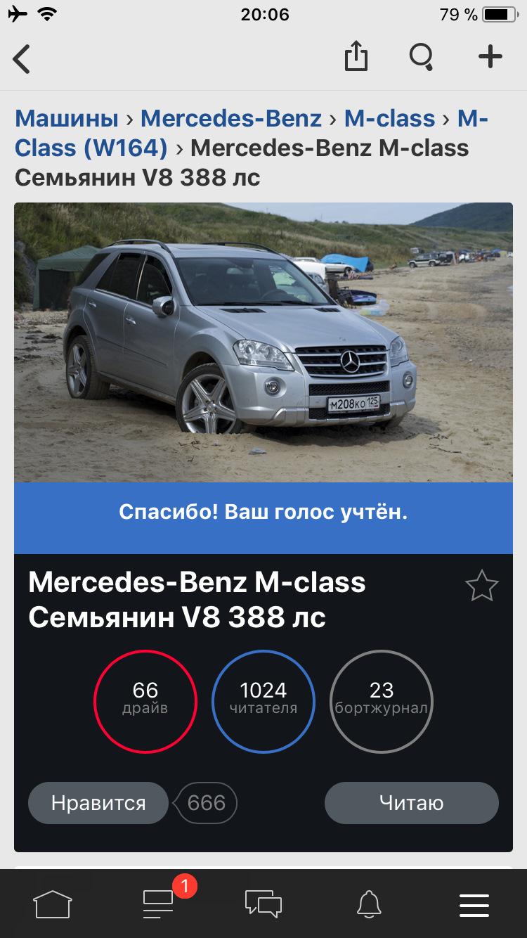 Mercedes Benz M Class Семьянин V8 388 лс Drive2